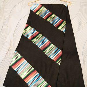 "Shanghai Tang ""Tibetan Stripe"" 100% Silk Scarf"